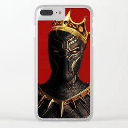 Black Panther King Wakanda Forever T'Challa Shirt Clear iPhone Case