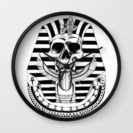 Pharao skull Wall Clock