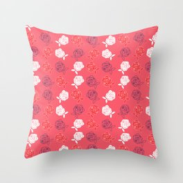 Paintng the Roses Red Throw Pillow