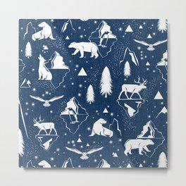 Arctic Circle - Blue Metal Print