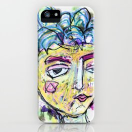 She is imperfect, but she tries iPhone Case
