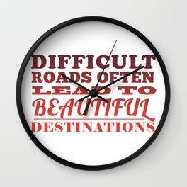 Beautiful Destinations Wall Clock