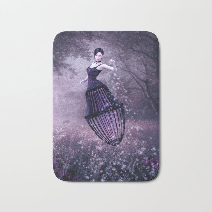 Black magic fairy Bath Mat
