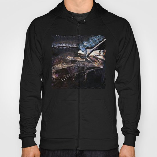 Falling Alligator Tank Of The Funky Newcomer Hoody