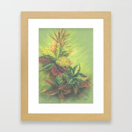 Colorful Leaves on colored paper Framed Art Print