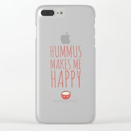 Hummus Makes Me Happy Clear iPhone Case