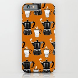 Pumpkin Spice Coffee for Two iPhone Case