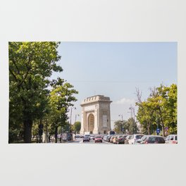 Roumania, Arch of Triumph of Bucharest Rug