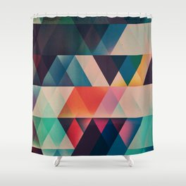 Geometric Abstract: jyst ynyff Shower Curtain