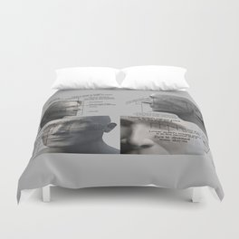 For You Are Beautifully and Wonderfully Made - All the Proportions of the Face Duvet Cover