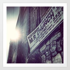 Abandoned Church in Chicago - Sunbeam Art Print