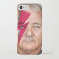 murray iPhone & iPod Cases featuring bill murray by lapinette