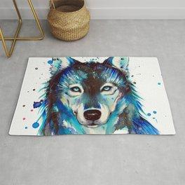 -Dark Wolf- Rug