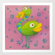 The ostrich-whale Art Print