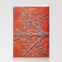 gothic Stationery Cards featuring Gothic Red Door by Joke Vermeer