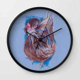 Brown Easter Egger Hen Wall Clock