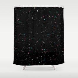 Northern hemisphere constellations pattern Shower Curtain