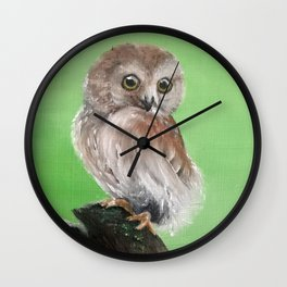 Perched Owl Wall Clock