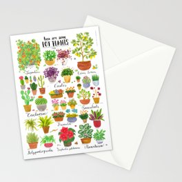Here are some Pot Plants! Stationery Cards