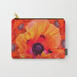 MODERN  RED-ORANGE POPPY FLOWERS  PATTERNS Carry-All Pouch