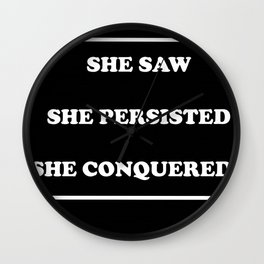 she persisted Wall Clock