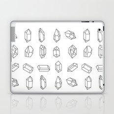 Black Crystal Rocks Geometric Gemstones Laptop & iPad Skin