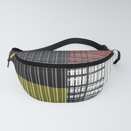 Multi-colored plaid Fanny Pack