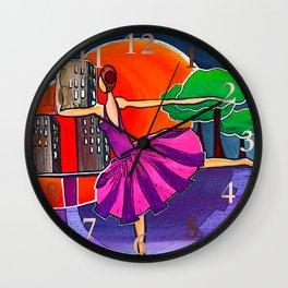 Dreams of the big city remix 2 Wall Clock