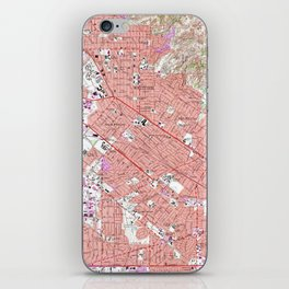 Vintage Map of Whittier California (1965) iPhone Skin