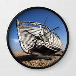 Beached Boat Wall Clock