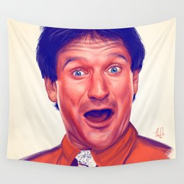 Young Robin Williams Wall Tapestry