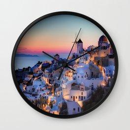 Santorin1 Wall Clock