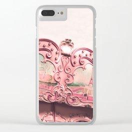 Paris Nursery, Violet, Carousel Clear iPhone Case
