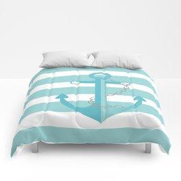 AFE Nautical Aqua Ship Anchor Comforters