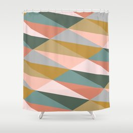 Earthy Diagonals Shower Curtain