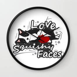 I love Squishy Faces Wall Clock