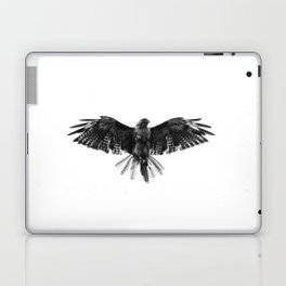 Black Bird White Sky Laptop & iPad Skin