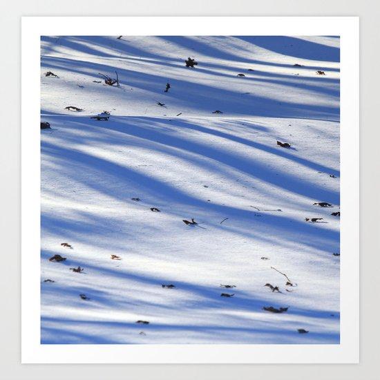 Snow Patterns Art Print