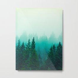Fog Foggy Samish Forest Woods Mountain Northwest Washington Landscape Metal Print