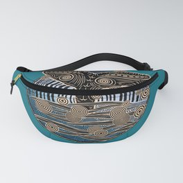 Vintage Whales Tail Fanny Pack