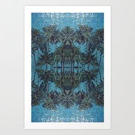 Puzzle Palms  Art Print