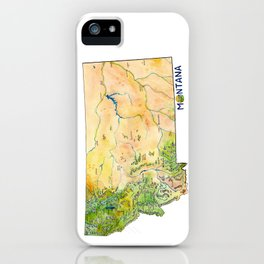 Montana Painted Map iPhone Case