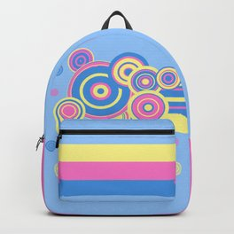 Pastel circles and stripes Backpack