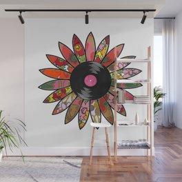 Retro Vinyl Flower Wall Mural