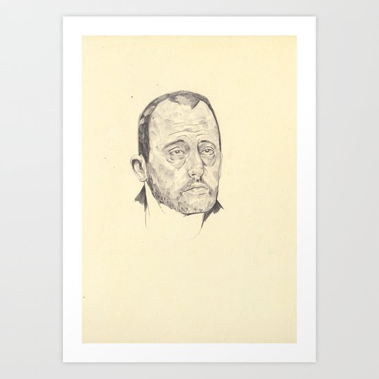 wipportraitofLéon Art Print