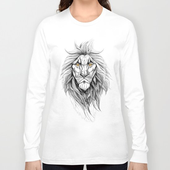The Lion (black stroke version for t-shirts) Long Sleeve T-shirt