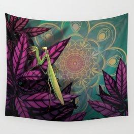 Praying Mantis Wall Tapestry