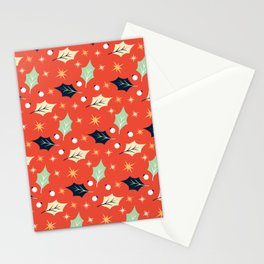 Autumn Leaf Pattern Stationery Cards