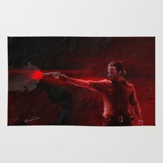 The Walking Dead Rick Grimes oil painting effect Rug