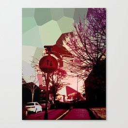 Pixels in the streets Canvas Print